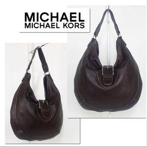 MICHAEL Michael Kors Mahogany Pebble Leather Hobo
